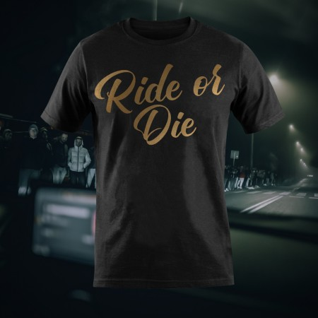 Ride or Die - Czarny T-Shirt