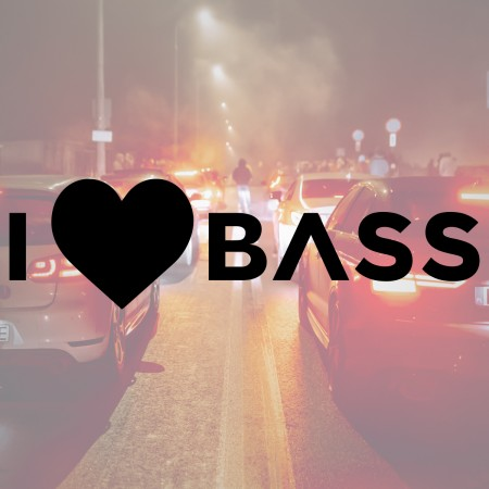 I Love Bass - Naklejka